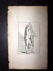 Sayer Compleat Drawing-Book 1757 Antique Print. Study of Body 45 Nudes